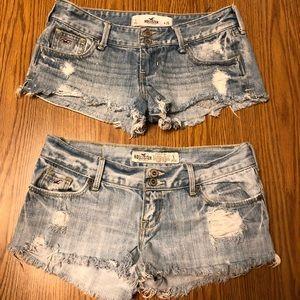 Hollister jean shorts bundle- 2 pairs- size 1
